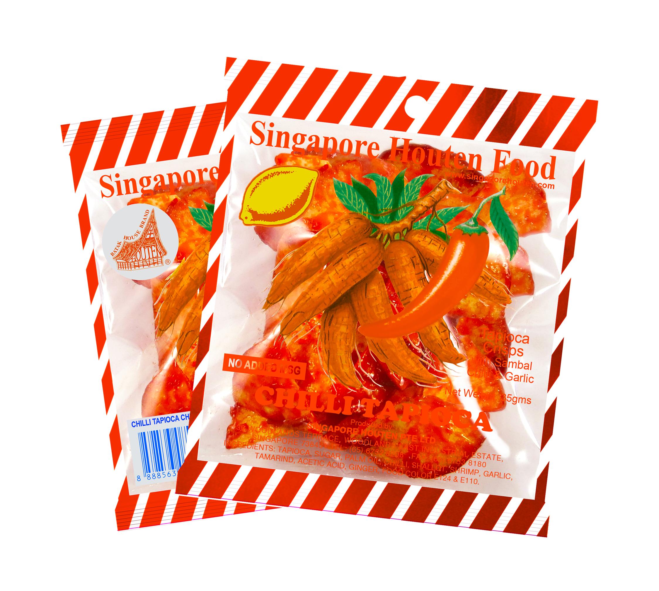 Chilli Tapioca Chips | Singapore Houten